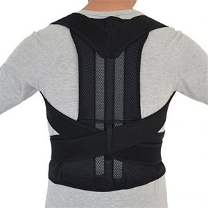 Aofit Steel Posture Corrector Back Brace Adjustable Double Pull Shoulder Support Belt