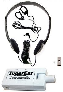 SuperEar Sonic Ear Personal Sound Amplifier Model SE5000 Increases Ambient Sound