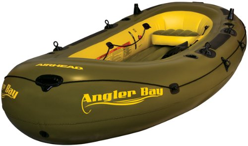 AIRHEAD AHIBF-06 Angler Bay 6 Person Inflatable Fishing Boats
