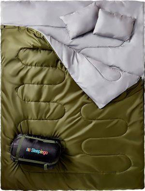 Double Sleeping Bag For Backpacking