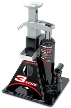 Powerbuilt 640912 All-In-One 3-Ton Bottle Jack