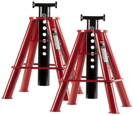 Sunex 1310 10-Ton Medium Height Pin Type Jack Stands