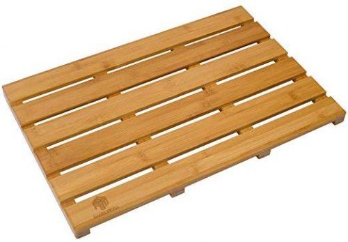 BAMBUROBA Bamboo Bath Mats