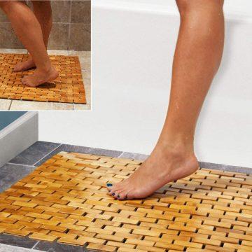 HANKEY Bamboo Bath Mats