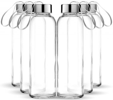 Chef's Star Glass Water Bottles