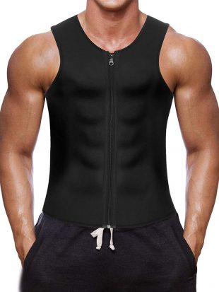 a782f4d620 This only for men trainer vest cum corset is made of Neoprene material. It  promotes intense weight-loss while you do your gym activities.