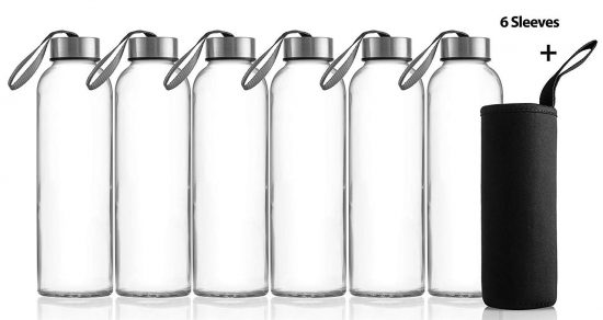 Zuzoro Glass Water Bottles