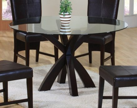 Coaster-round-glass-dining-tables