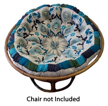 Superieur Cotton Craft Papasan Peacock Blue Overstuffed Chair Cushions