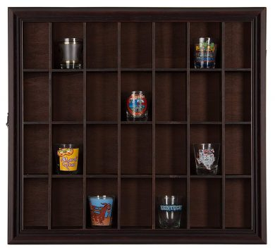 Gallery Solutions Shot Glass Display Cases