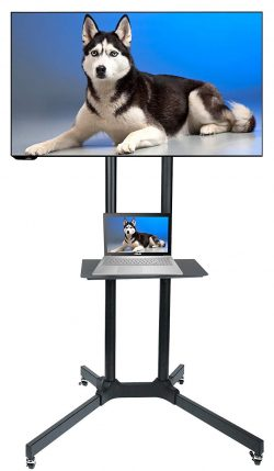 Husky-Mount-rolling-tv-stands