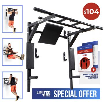 Kit4Fit Wall Mounted Pull Up Bars