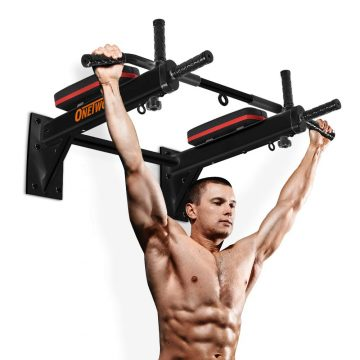 ONETWOFIT Wall Mounted Pull Up Bars