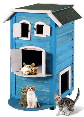 JAXPETY Outdoor Cat Houses