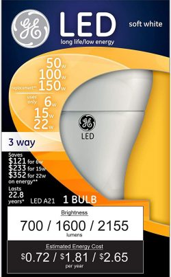 GE Lighting 3-Way LED Light Bulbs