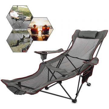 Happybuy Camping Chair with Footrests