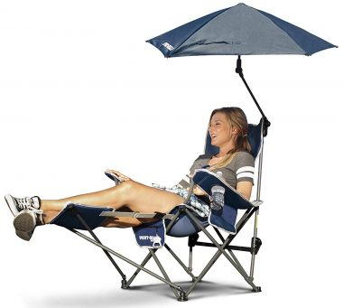 Sport-Brella Camping Chair with Footrests