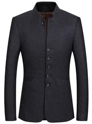 Mandarin Tweed Jackets for Men