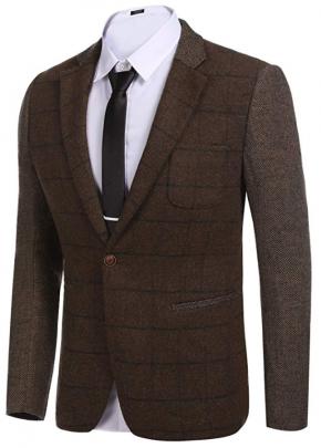 COOFANDY Tweed Jackets for Men