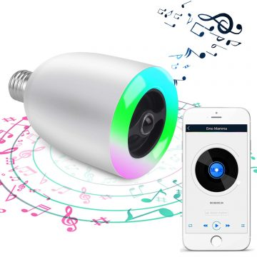 Demetory Bluetooth Light Bulb Speakers